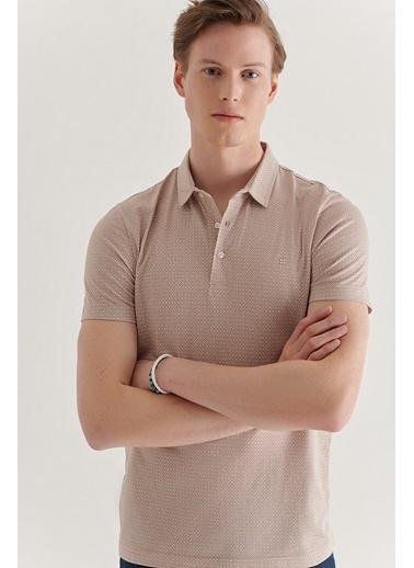 Avva Erkek  Polo Yaka Tişört A11Y1125 Bej